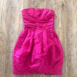 Strapless fushia dress from Forever 21